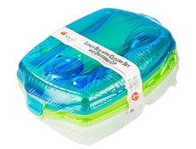 Load image into Gallery viewer, Colorful Plastic Lunch Box Set with Cultery - Bento Boxes or Food Storage Containers 2 Pack