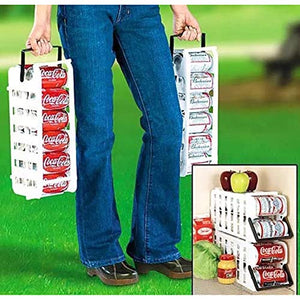 Store N' Tote Stackable Can Dispenser Durable Plastic Can Holder Rack One