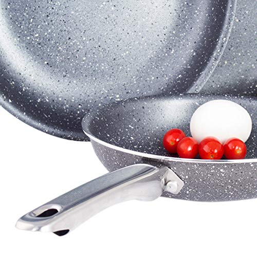 "Nonstick Frying Pan – 8"", 10"", and 12"" Aluminum Pans – Ceramic Coated Aluminum Fry Pan – Nonstick Frying Pans in 3 Sizes (8"")"