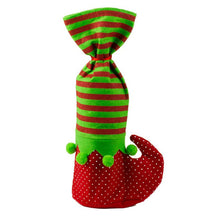 Load image into Gallery viewer, Pack of 4 Christmas Wine Bottle Holders - Elf Design
