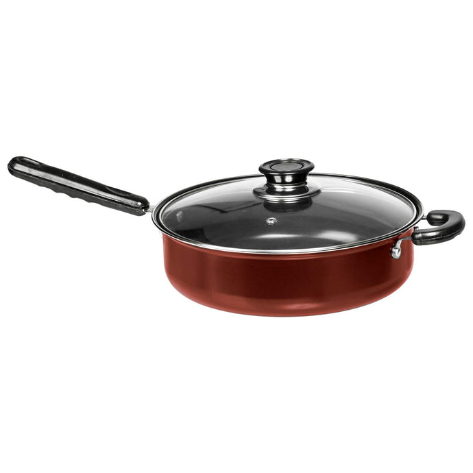 "11"" Non Stick Deep Frying Pans – Large Deep Pan with Lid – Nonstick Deep Fry Pans – Re"