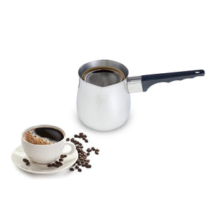 Imperial Home 3 Pc Turkish Coffee Warmer Pot Set, Stainless Steel 6 Oz, 12 oz, 24 oz