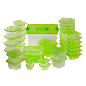 76 Piece BPA Free Food Storage Containers With Lids – Plastic Large Food Storage Containers – Airtight Food Storage Containers – Plastic Food Storage Containers