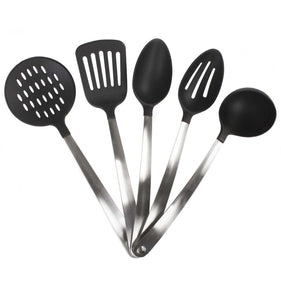 Stainless Steel & Nylon Heat Resistant Kitchen Tool Utensil Set