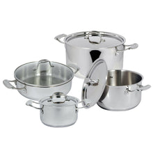 Load image into Gallery viewer, 4 Piece Stainless Steel Cookware Set