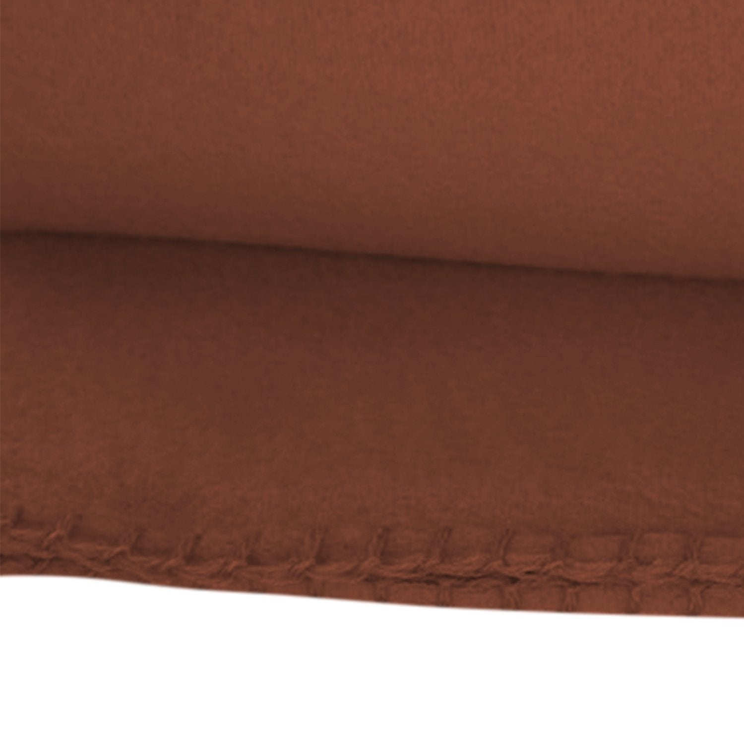 Imperial Home Cozy 50 X 60 Fleece Throw Blanket (Brown)