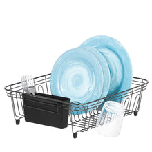 Load image into Gallery viewer, Dish Drying Rack with Plastic Utensil Holder – Drying Rack Kitchen - Stainless Steel Wire Dish Rack, Rust-Resistant Dish Racks for Counter