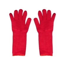 Load image into Gallery viewer, Super Oven Glove Extra Thick Extra Long Heat Resistant Oven Mitt Pot Holder Red