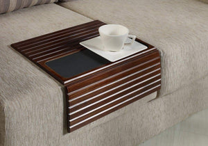 Wood Sofa Arm Tray Table - Flexible Wooden Folding Tray