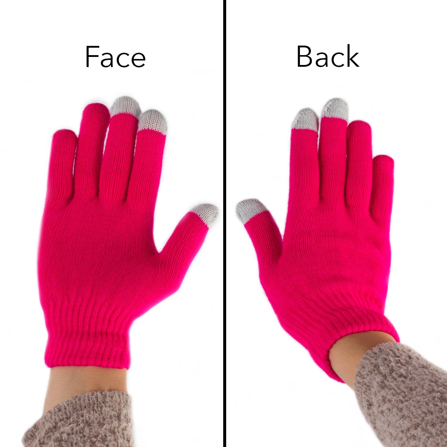 Imperial Home Women's Winter Touchscreen Gloves – 2 Pair Outdoor Spandex Texting Mittens