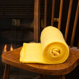 Imperial 50 x 60 Inch Ultra Soft Fleece Throw Blanket - Yellow