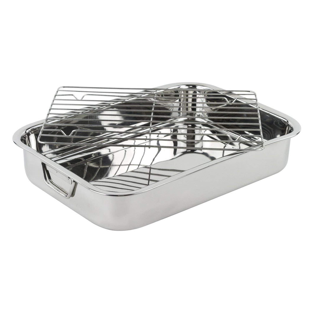 Roasting Pan - Heavy Duty Stainless Steel 16