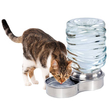 Load image into Gallery viewer, Waterer Stainless Steel Pet Dog Cat Water Fountain Bowl - 1 Gallon Capacity