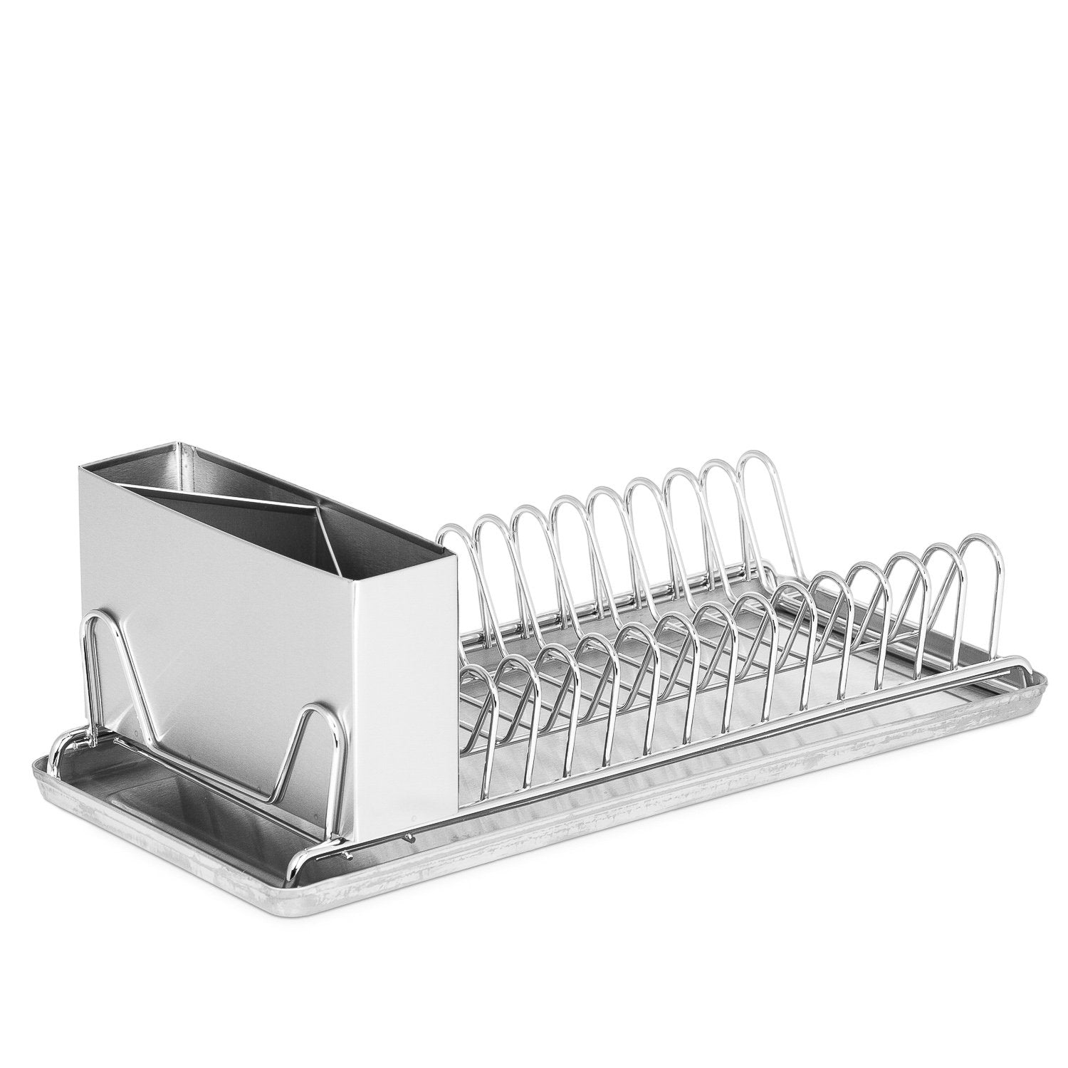 Dish Drying Rack With Drain Board – Compact with Stainless Steel Utensil Holder and Dish Rack Drainboard – RV Dish Drying Rack - Dish Racks for Counter, In Sink Drying Rack