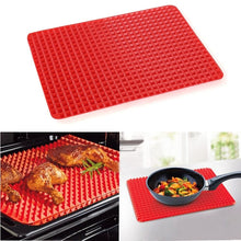 Load image into Gallery viewer, Premium Healthy Chef Baking Mat - Raised Pyramid Non-Stick Baking Sheet - Red