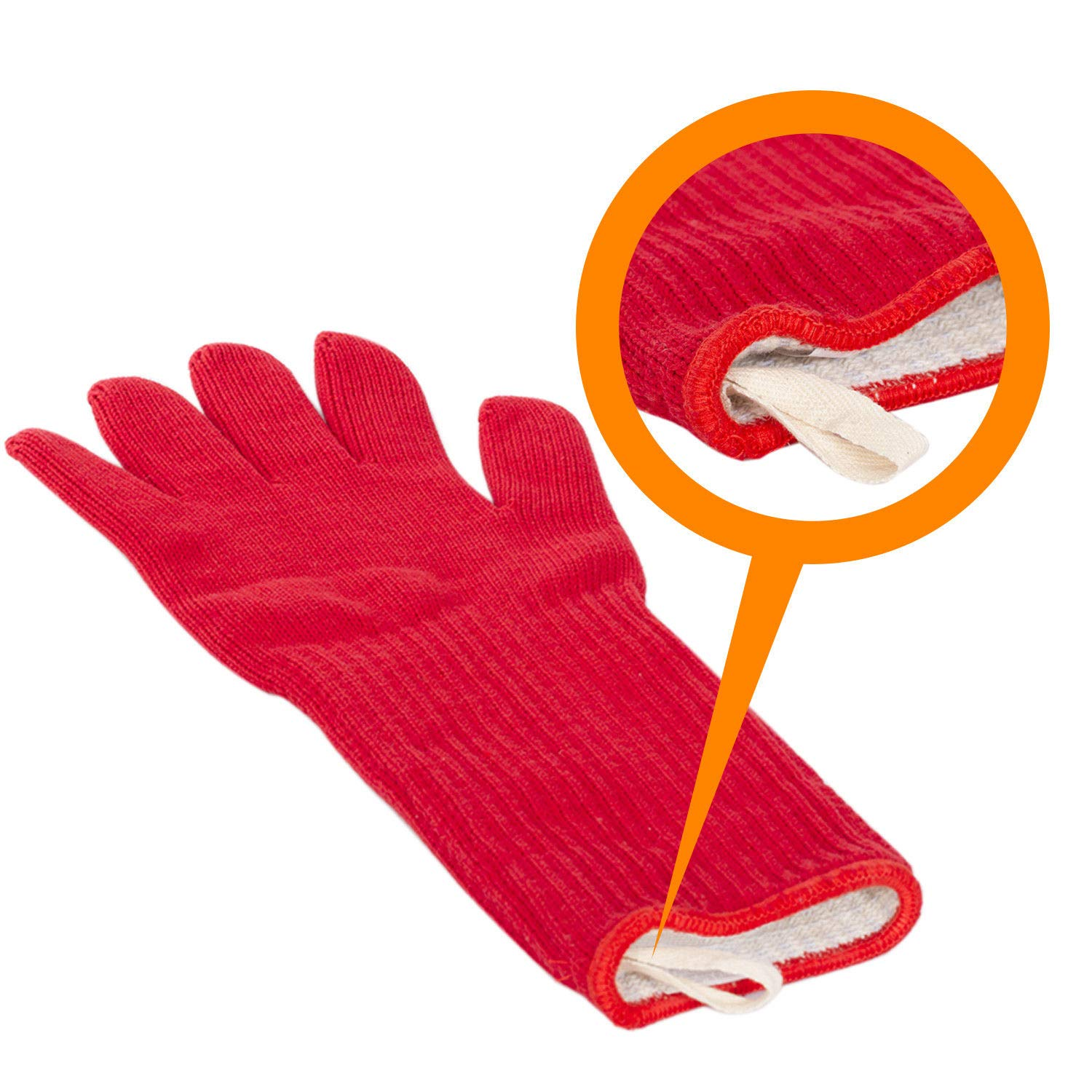 Super Oven Glove Extra Thick Extra Long Heat Resistant Oven Mitt Pot Holder Red