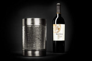 Double Wall Small Wine Cooler - Elegant Brass Bottle Cooler Ice Bucket