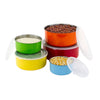 10 Pcs Colorful Stainless Steel Mixing Bowls or Food Storage Containers Set w/Lids