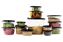 Load image into Gallery viewer, Imperial Home Reusable Plastic Food Containers/Storage and Lunchboxes in Set of 42 with Black Lids