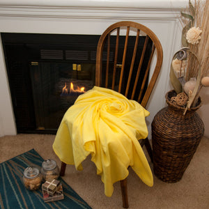 24 Pack of Imperial 50 x 60 Inch Ultra Soft Fleece Throw Blanket - Yellow