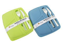 Load image into Gallery viewer, Plastic Bento Lunch Box - Food Storage Containers with Cutlery Set