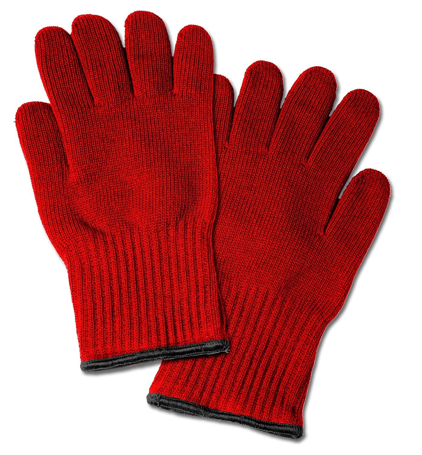 2 Extra Thick Oven Gloves - Red Heat Resistant Amazing Oven Mitt / Pot Holders
