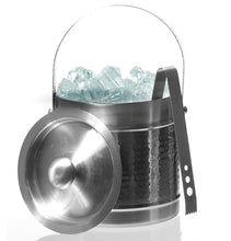 Load image into Gallery viewer, Stainless Steel Double Wall Ice Bucket With Tongs - Double Wall Ice Bucket