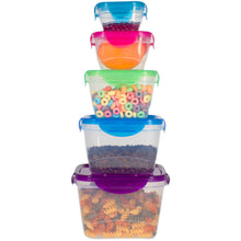 Load image into Gallery viewer, 10 Pc Reusable Refrigerator Containers – Microwavable Plastic Lunch Containers