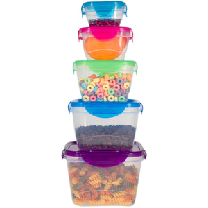 10 Pc Reusable Refrigerator Containers – Microwavable Plastic Lunch Containers