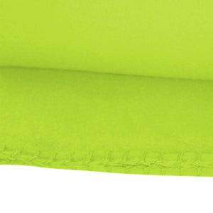 Imperial Home 50 x 60 Inch Soft Cozy Fleece Blanket / Fleece Throw - Lime Green