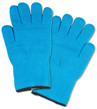 Load image into Gallery viewer, 2 Pc Ultra Thick Oven Gloves - Heat Resistant Pot Holders or Safety Oven Mitts (Blue)