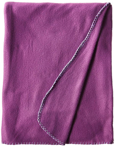Imperial Home 50 x 60 Inch Soft Cozy Fleece Blanket / Fleece Throw - Purple