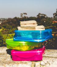 Load image into Gallery viewer, Set of 3 Sandwich Container for Lunch Boxes - Sandwich Box For Kids & Adults (Multi Color)