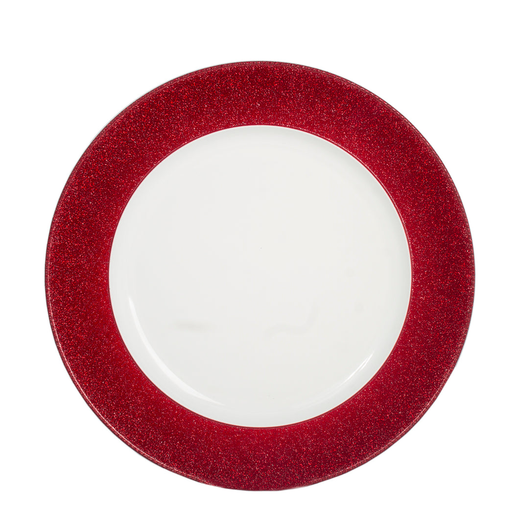 Aramco - Charger Plate white w/ Red Ring - (AI19967) - Main