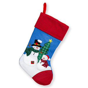 "Large Embroidered Classic 3D Christmas Stockings - 18"" Santa Toy Stockings"
