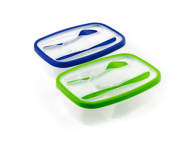 MW - Plastic Lunch Box with Utensils (MW1578) - Main