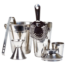 Load image into Gallery viewer, 5 Pcs Stainless Steel Cocktail Shaker Bar Set With Ice Bucket, Bar Accessories - Bartending Tools Cocktail Maker