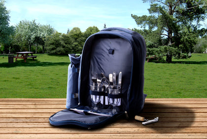 Wine Carrier Tote Bag - 7 Pc Insulated Wine Bottle Holder - Blue
