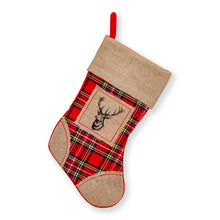 "Load image into Gallery viewer, Large Burlap Classic 3D Christmas Stockings - 18"" Santa Toy Stockings"