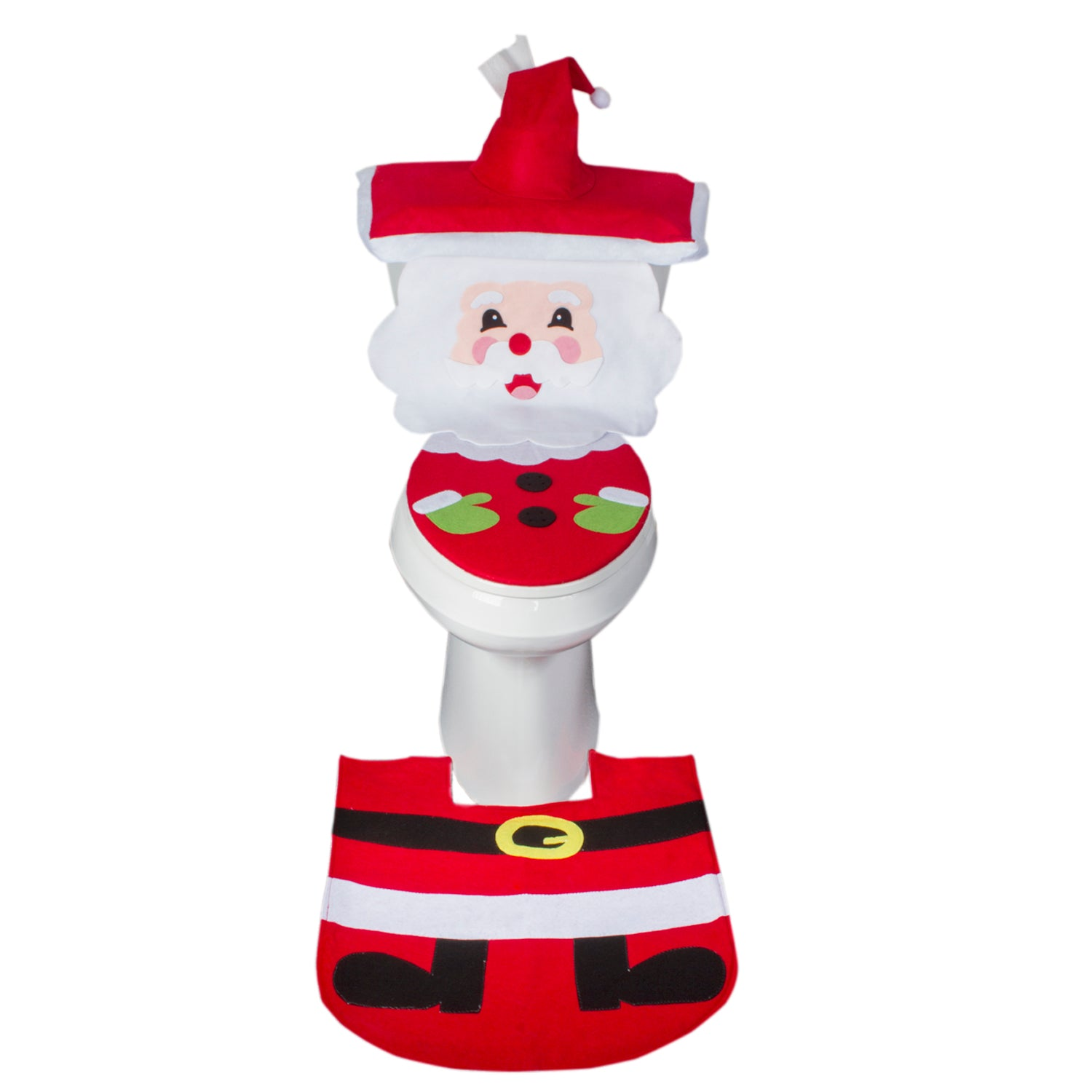 Christmas Bathroom Set - Santa Face w/ Seat & Belt - (MW3549)