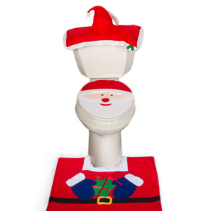Christmas Bathroom Set - Santa Face - (MW3550)