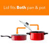 Non Stick Cookware Set - Red Carbon Steel 8 Pcs Stock Pot Utensils Fry Sauce Pan