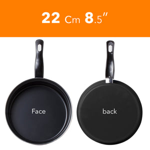 8 Pc Carbon Steel Non Stick Cookware Set W/Utensils Dutch Oven Fry Sauce Pan - Carbon Steel Cookware Set - Carbon Steel Pans & Pots with Utensils (Black)
