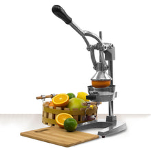 Load image into Gallery viewer, Heavy Duty Cast Iron Citrus Press Orange Manual Extractor Juicer Gray