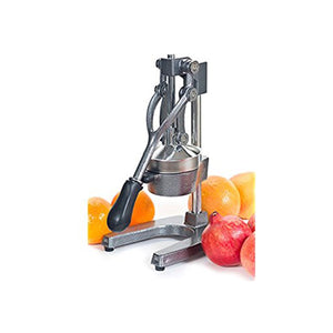 Heavy Duty Cast Iron Citrus Press Orange Manual Extractor Juicer Gray