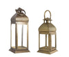 Metal Brass Finish Moroccan Lantern Candle Holder Set Candle Holder Set of 2