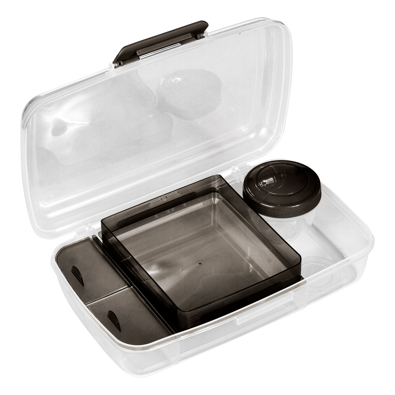 BPA-Free Reusable Plastic Bento Box with Snapping Lid