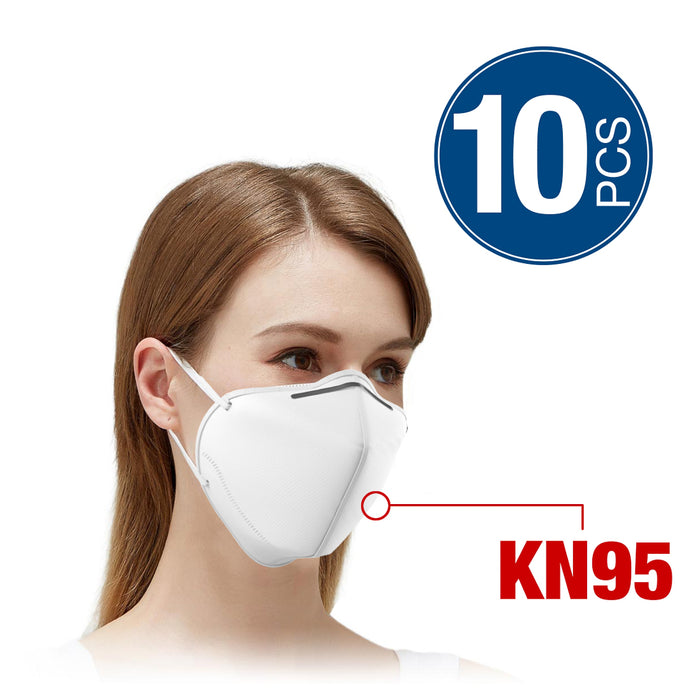 10 PC White Non-Woven Disposable Protective Masks - Safe Filter Face Masks - Breathable and Comfortable Health Mask - KN95 Style Face Masks