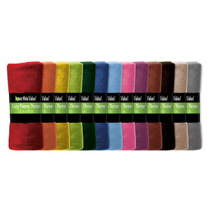 Imperial Home 50 x 60 Soft Warm Fleece Blanket – Throw Blanket Assorted
