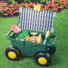 Imperial Home Rolling Gardening Seat with Storage – Storage Gardening Bench – Gardening Seats with Wheels – Garden Work Bench